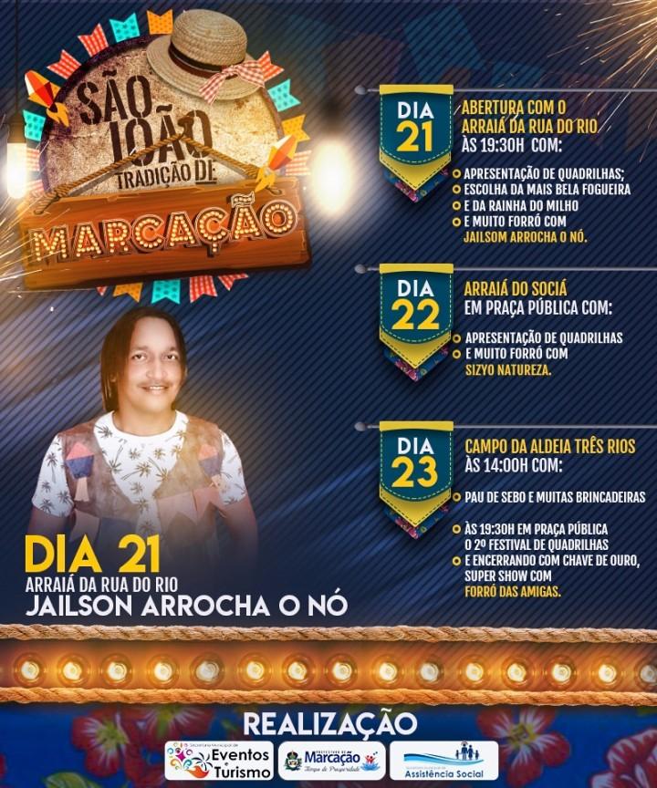 Secretarias de Eventos e Assistência Social integradas abrem São João Tradição nesta quinta-feira.
