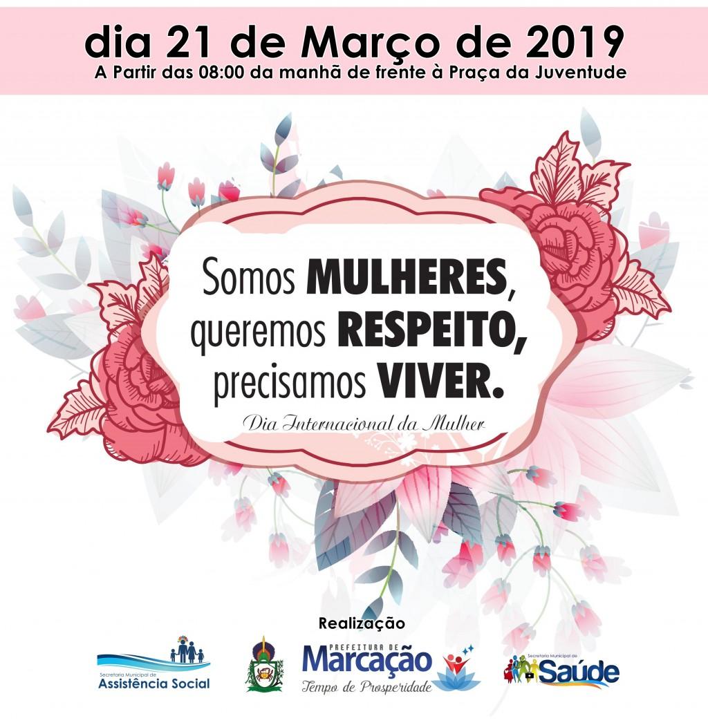 A Prefeitura por meio das Secretarias de Assistência Social e Saúde,realiza comemorações pelo dia da Mulher
