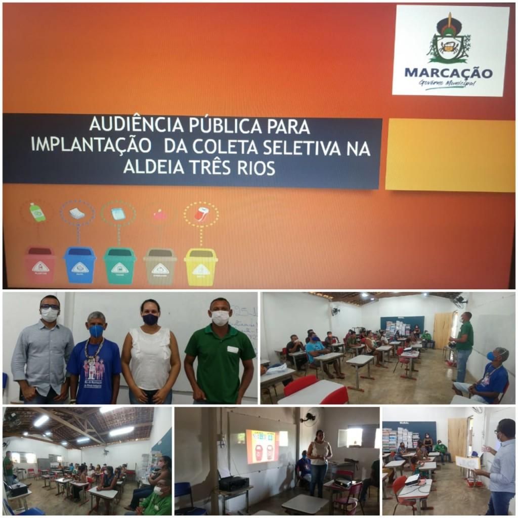 MEIO AMBIENTE: PREFEITURA IMPLANTA COLETA SELETIVA NA ALDEIA TRÊS RIOS.