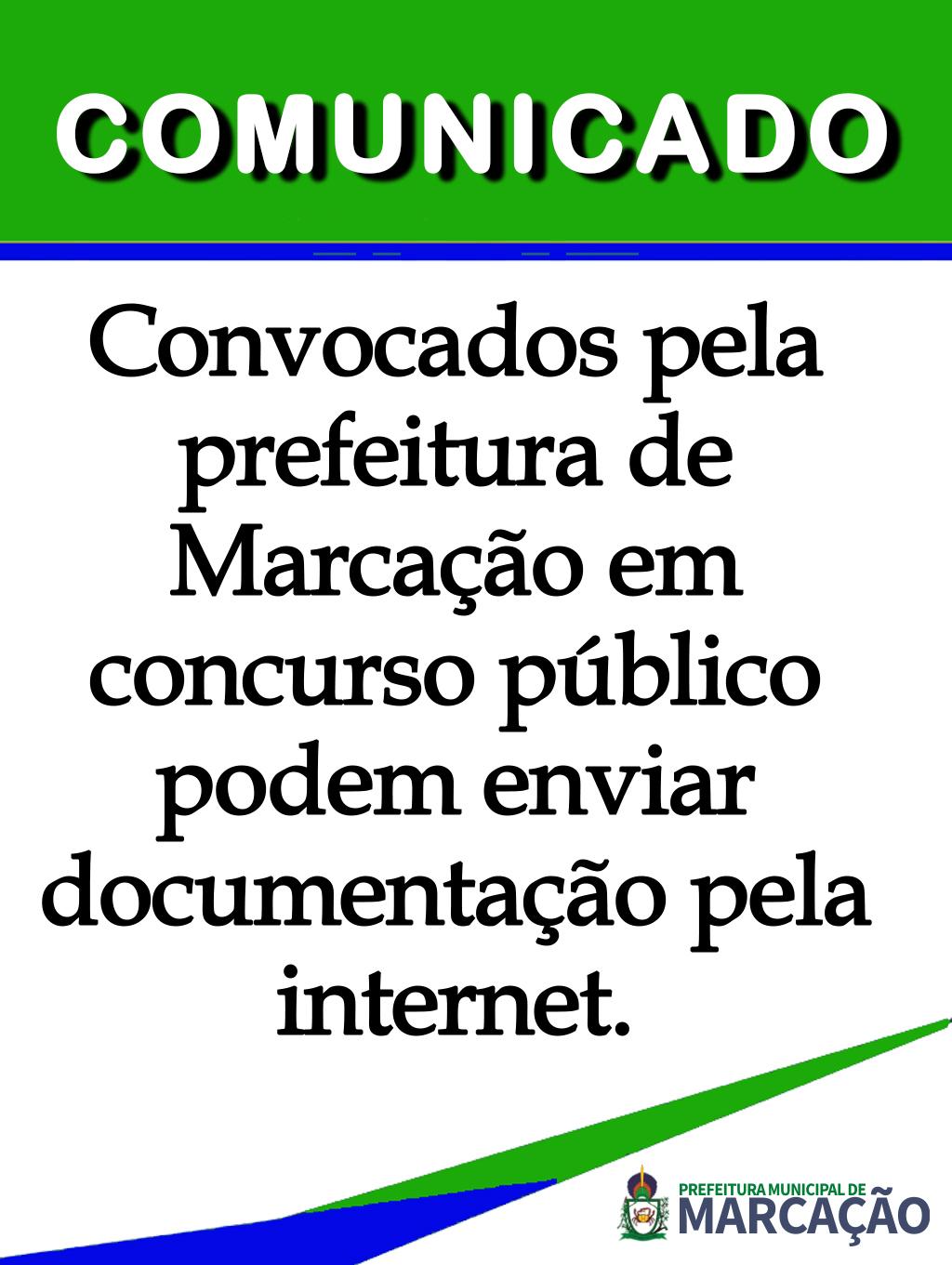 Convocados pelo Concurso Público 001/2016 pode enviar documentação pela Internet.