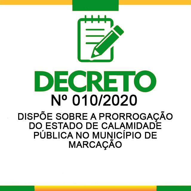 Decreto municipal declara estado de calamidade pública e oficializa prorrogação da quarentena até 30 de abril