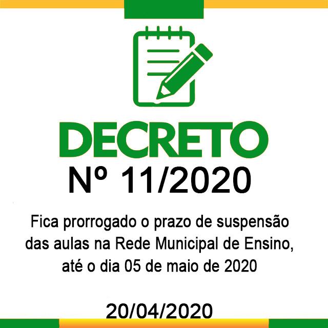 DECRETO N° 11, DE 20 DE ABRIL DE 2020