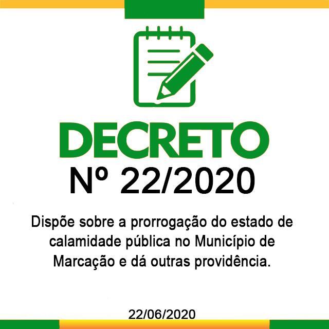 DECRETO 22, DE 22 DE JUNHO DE 2020